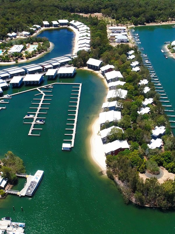 Couran cove aerial marketing video